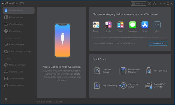 AnyTrans for iOS免费版
