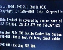 大番茄分享电脑重装系统提示exiting pxe rom错误的解决方法
